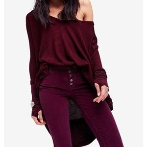 New With tags free people Laguna thermal in wine